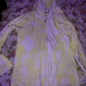 custom made champion zip up yellow (tie dye)